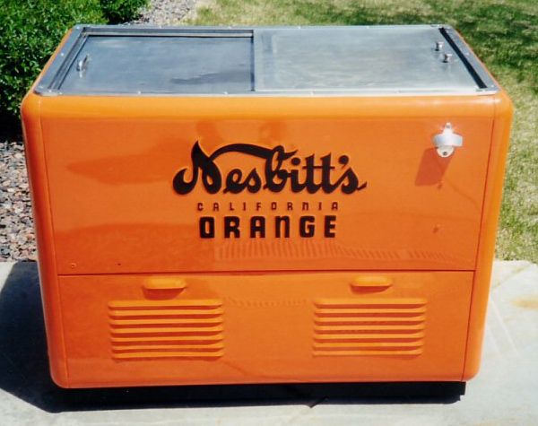 1940s Nesbitt's California Orange Ice Chest