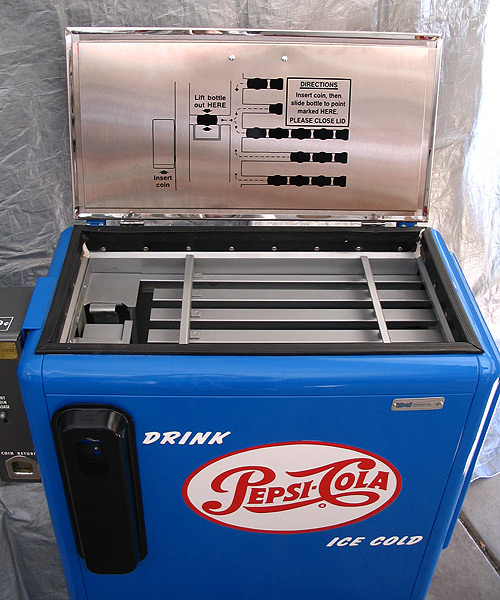 Pepsi Cola Ideal 55 Machine - Open Top View