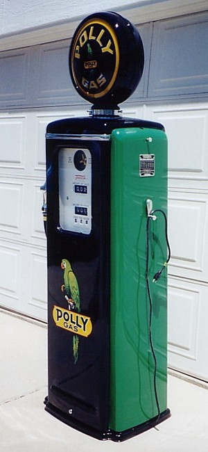 Polly Gas Pump - Left View