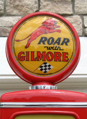 Tokheim Roar With Gilmore Gasoline Pump - Globe Detail