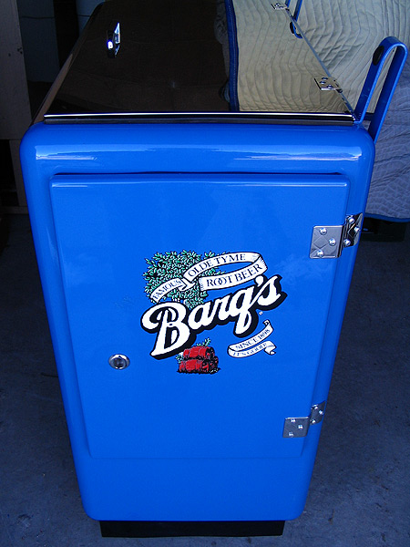 Barq's Ideal 55 Machine - Door Side View