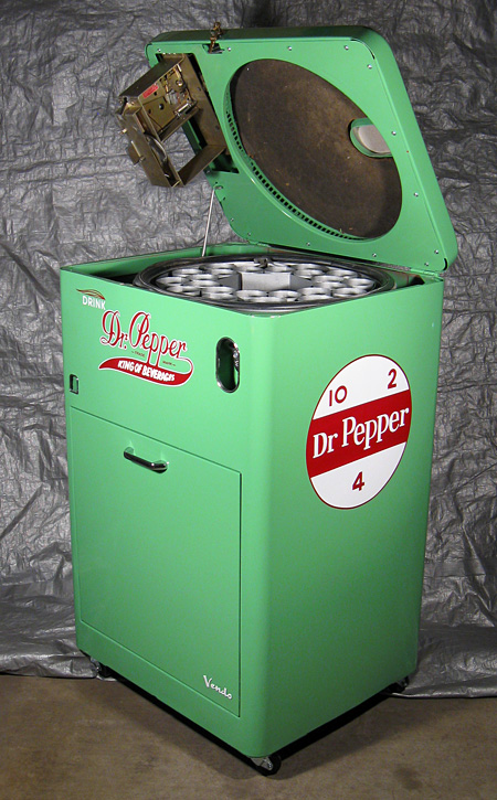 Dr. Pepper Vendo 23 Spintop - Open Top Side View