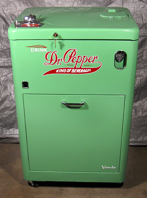 Dr. Pepper Vendo 23 Spintop - Front View