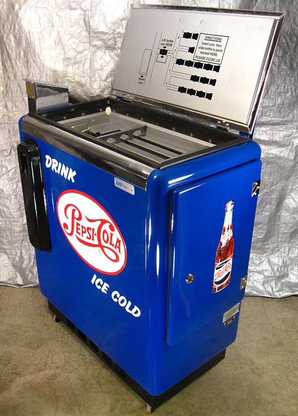 Pepsi Cola Ideal 55 Machine - Open Lid