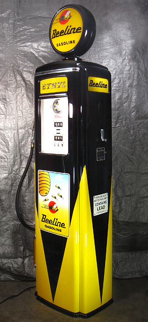 Tokheim 39 Tall Beeline Gas Pump - Left View