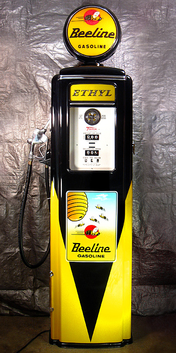 Tokheim 39 Tall Beeline Gas Pump - Front View