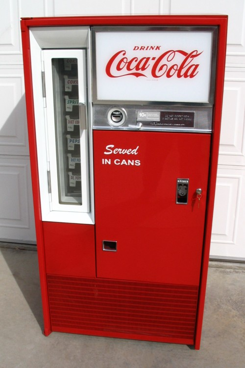 Coca Cola Vendo 63 Machine - Front View