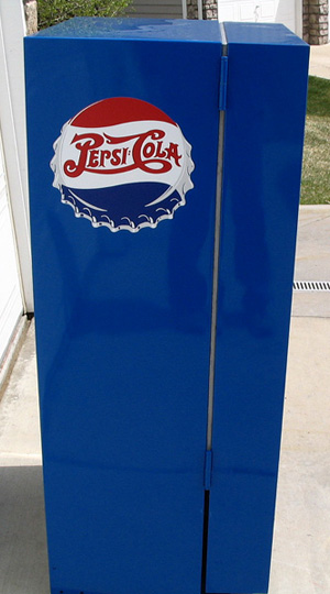 Pepsi Cola Vendo 56 Machine - Left Side View