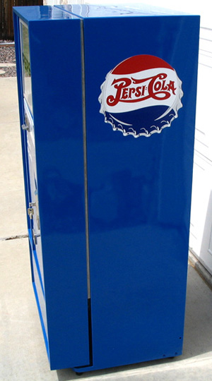 Pepsi Cola Vendo 56 Machine - Right Side View