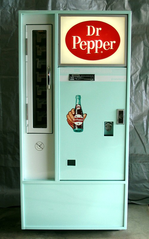Dr Pepper Vendo 56 Machine - Front View