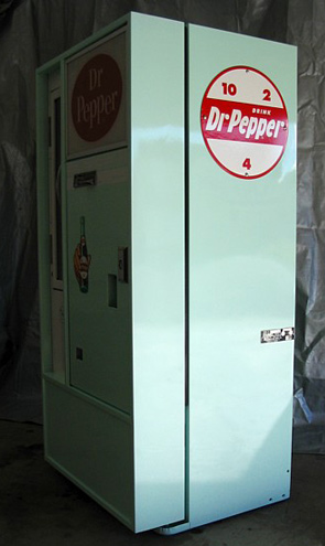 Dr Pepper Vendo 56 Machine - Side View