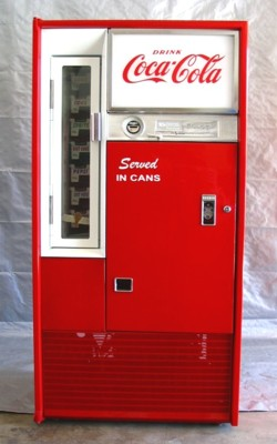Coca-Cola Vendo 63 Stock Can Machine - Small Image