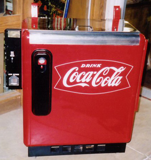 Coca Cola Ideal 55 Slider Machine Photoshoot