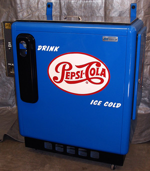 Pepsi Cola Ideal 55 Slider Machine Photoshoot