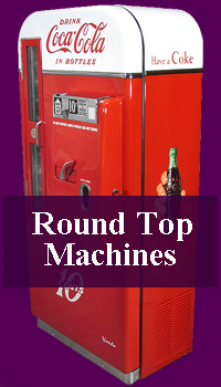 Photoshoots of restored round top soda machines.