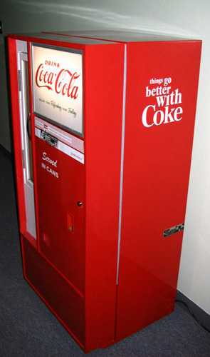 Coca Cola Vendo 56 Machine - Left View
