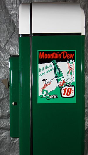 Mountain Dew Custom Design Vendo 81A Antique Refinishing Services